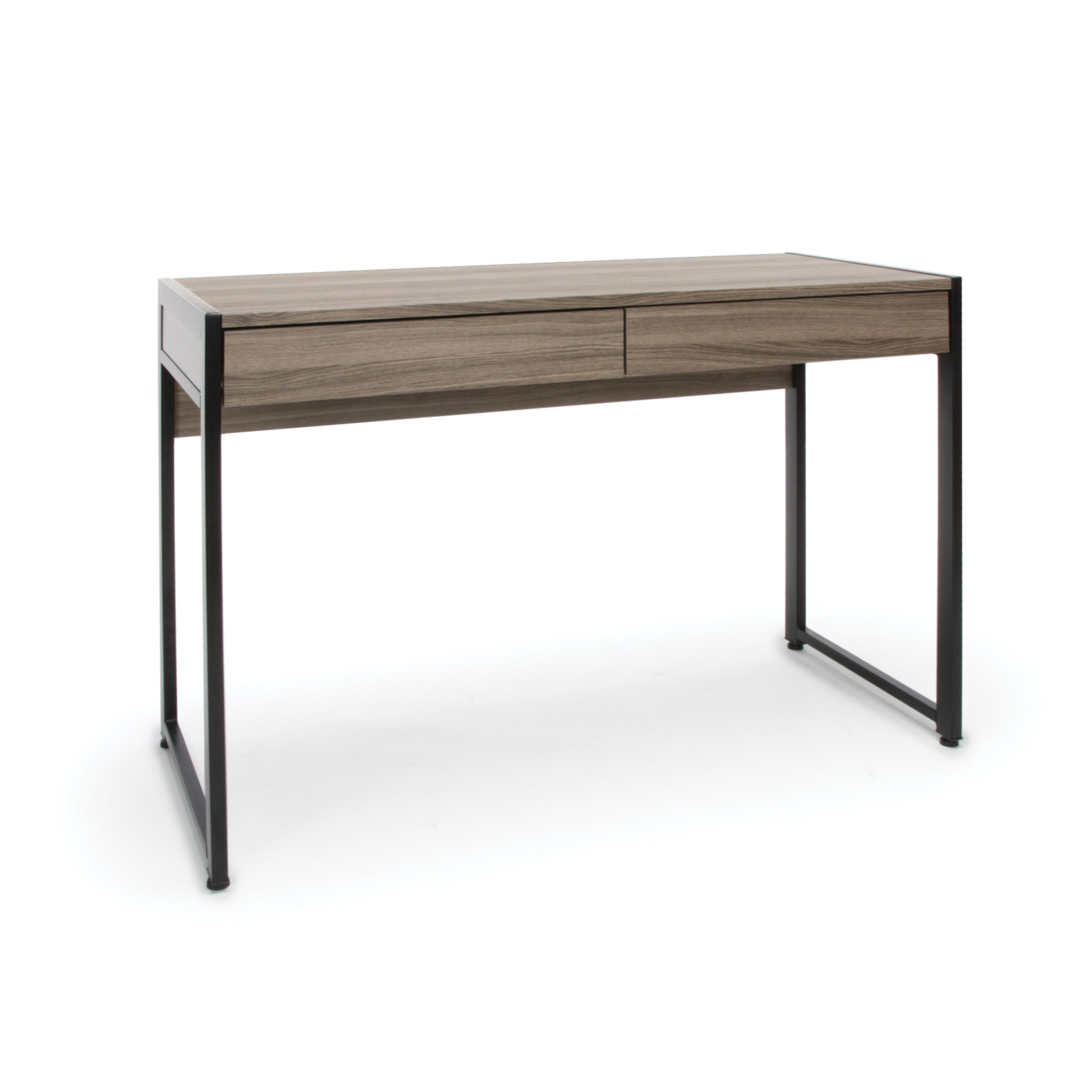 OFM ESS-1002-DWD Essentials ESS-1002 2-Drawer Office Desk, Driftwood by OFM