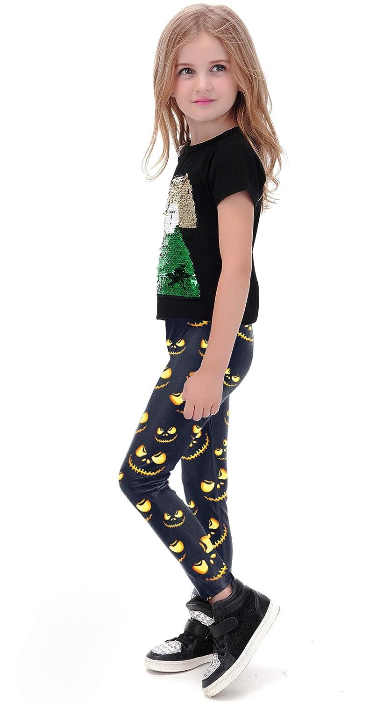 BesserBay Girl's Halloween Costume Legging Untra Soft Printed Tight Pants
