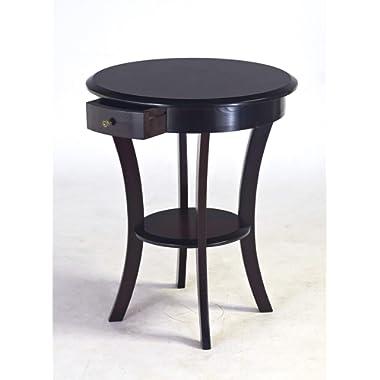 Frenchi Home Furnishing Frenchi Furniture Wood Round Table with Drawer & Shelf,Espresso …