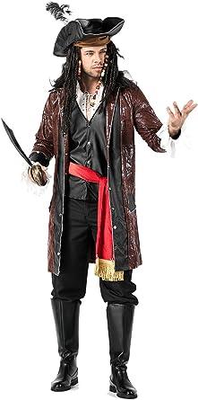 lancoszp Disfraz de Pirata Capitan para Hombres Set Completo con ...
