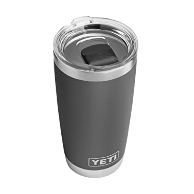 YETI Rambler 20 oz Stainless Steel Vacuum Insulated Tumbler w/MagSlider Lid, Charcoal