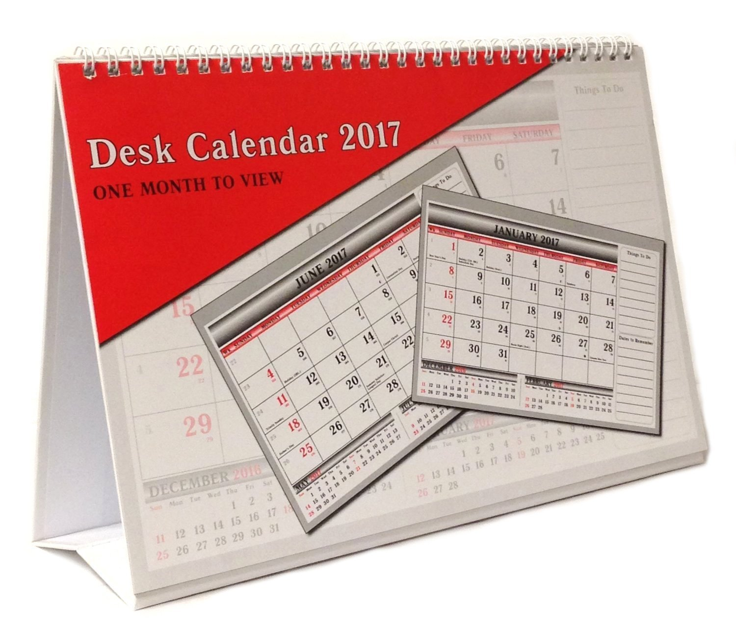 2019 One Month To View UK Stand Alone Desk Office Table Calendar planner by Arpan (2019 Desk-Top)