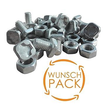 Aluminium M6 Flachkopfschrauben für Gewächshaus Vierkantschrauben mit Muttern