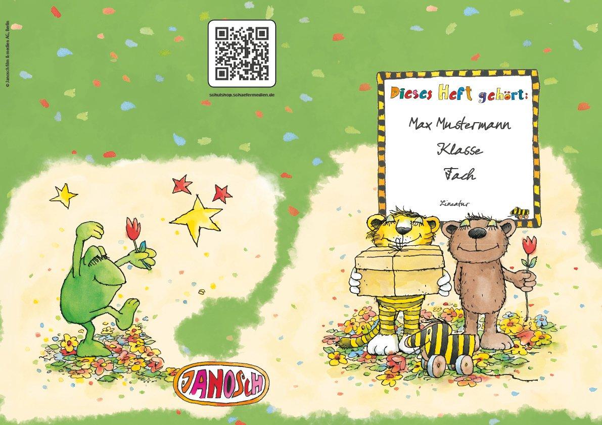 24 lustige JANOSCH-Schulhefte JANOSCH-Schulhefte JANOSCH-Schulhefte A4, »Geheimnisvolles Geschenk«, Lineatur 1, Frühlingsgrün, personalisierbar, 32 Seiten B076Q5BMKW | Räumungsverkauf  | Mittlere Kosten  | Einzigartig  efc23d