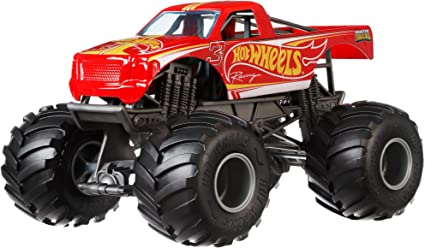 Amazon Com Hot Wheels Monster Trucks Racing Die Cast 1 24 Scale Vehicle With Giant Wheels For Kids Age 3 To 8 Years Old Great Gift Toy Trucks Large Scales Toys Games