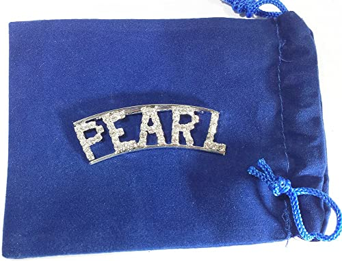 Detti Originals Personalized Rhinestone Pearl Name pin
