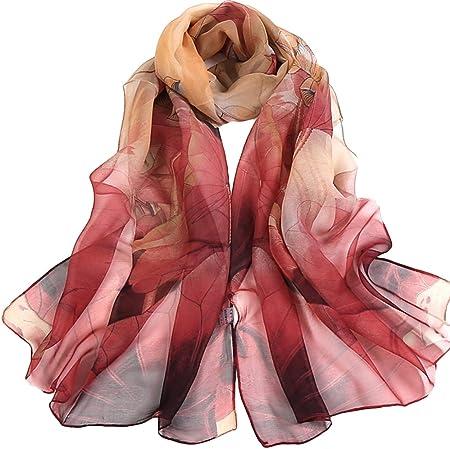 Fashion femmes Long Doux Wrap écharpe Femmes Châle en Mousseline de soie écharpe écharpes