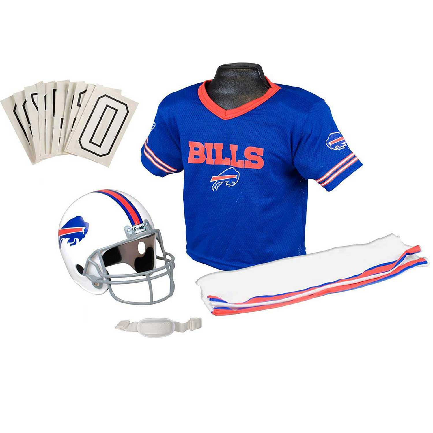 724047179e3 Galleon - Franklin Sports NFL Buffalo Bills Youth Licensed Deluxe Uniform  Set, Large