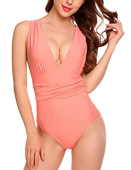 0e772f8b46 Kissgal Women Halter Swimwear One Piece Bathing Suit Pin Up Monokinis  Bikinis