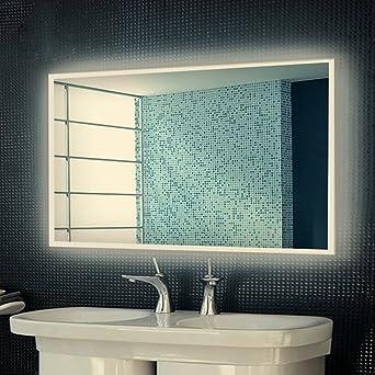 Anten® Badspiegel led warmweiß 4000k led Größe 1000x600mm Design ...