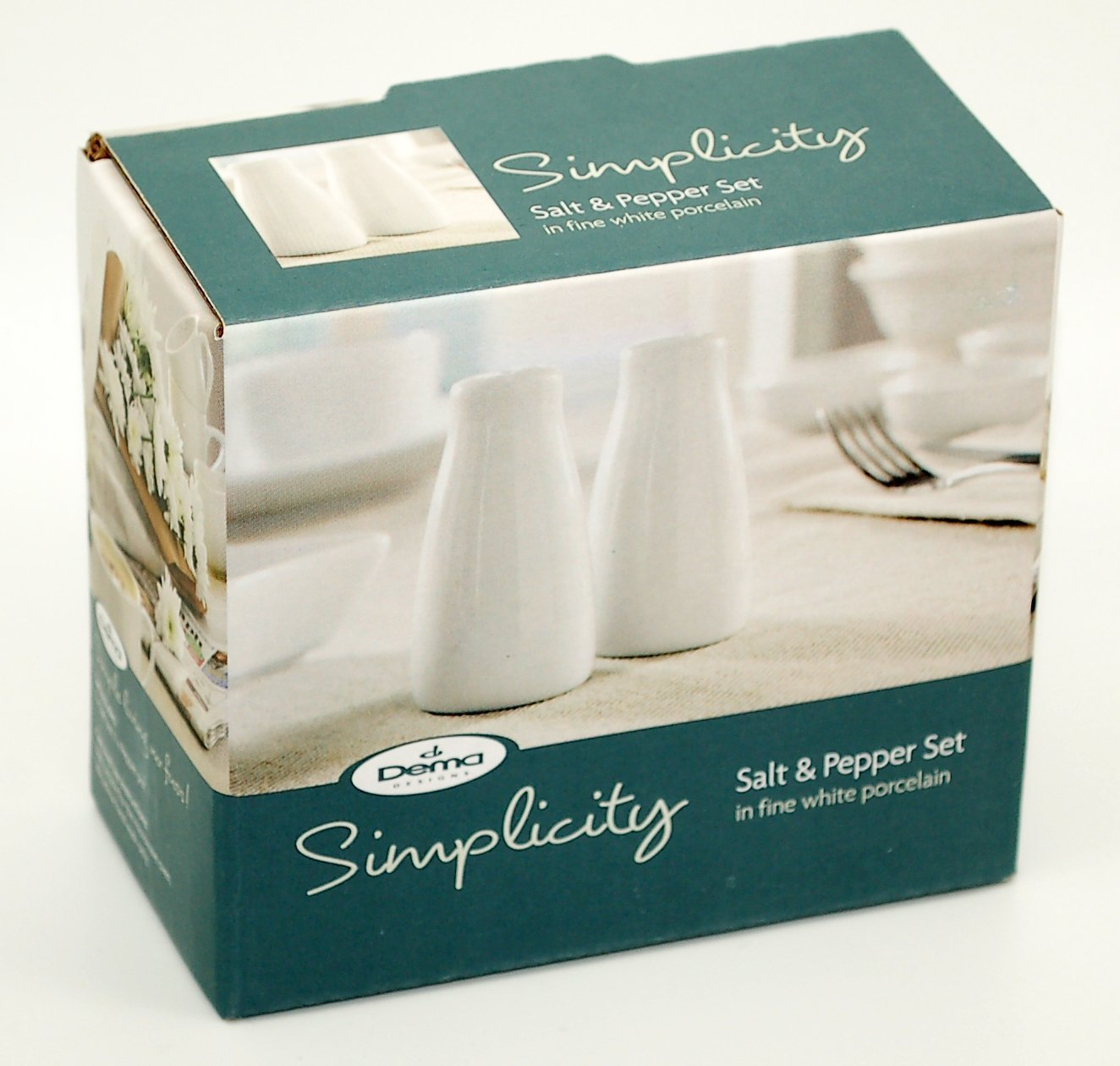 DEMA Simplicity Salt and Pepper Pots, White: Amazon.co.uk: Kitchen ...
