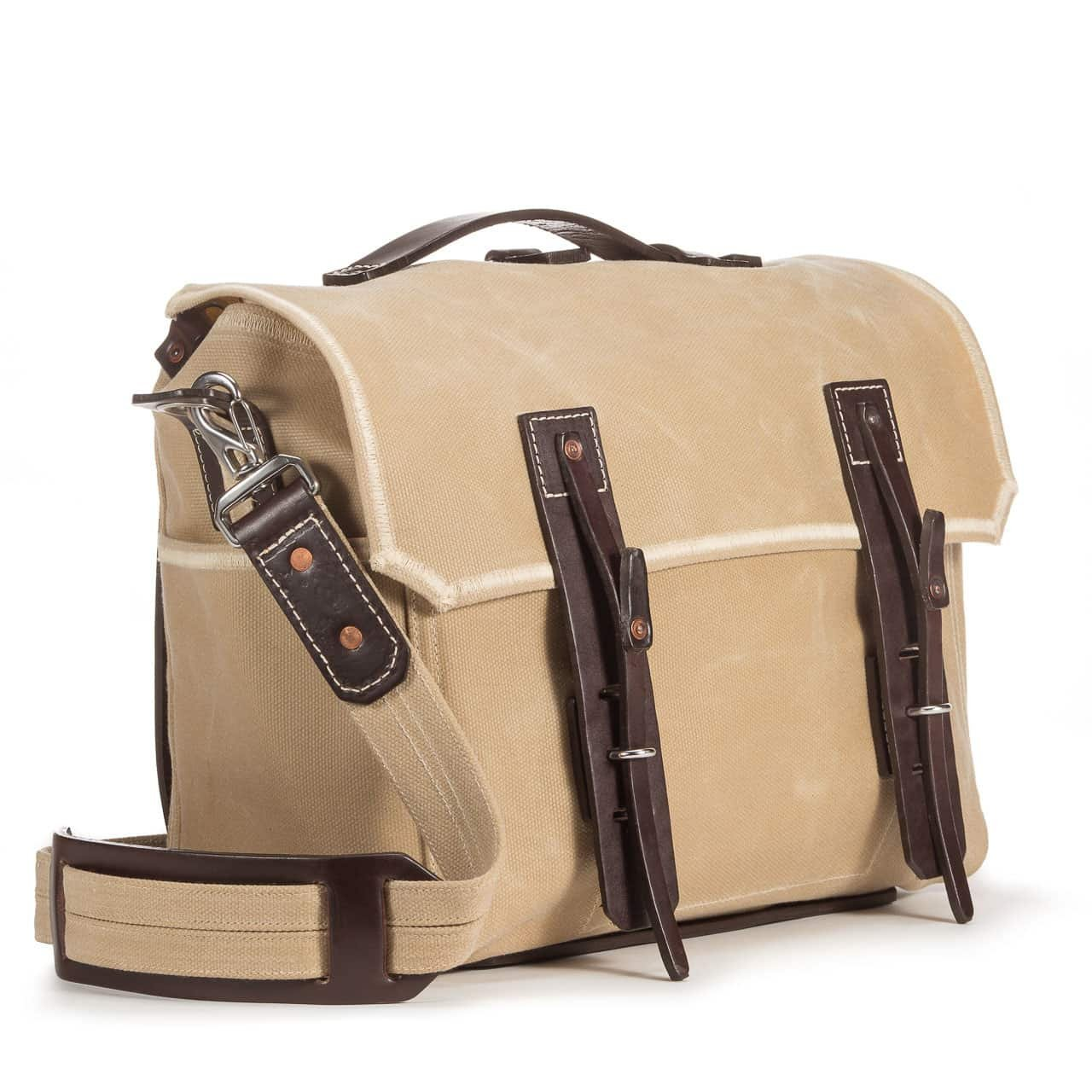Saddleback Leather Co. Mountain Back ラージ ワックスキャンバスギアバッグ - キャンバスとレザーメッセンジャー - 100年保証 B07FR3QFN6