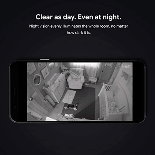 The Nest Cam has an excellent night vision function.