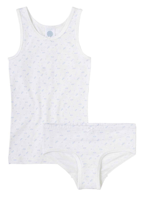 Sanetta Mädchen Unterwäscheset 2-Teilig Libelle-Allover Broken White G334046048