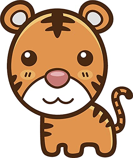 Image of: Shutterstock Image Unavailable Amazoncom Amazoncom Cute Simple Kawaii Animal Cartoon Icon Vinyl Decal