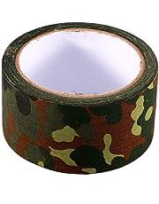 Alomejor Cinta de Camuflaje Cinta Adhesiva biónica Impermeable al Aire Libre de 10 m Rollo de Cinta Adhesiva de Camuflaje elástico