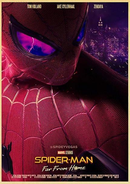 Película de superhéroes, Spider-Man lejos del cartel de casa ...