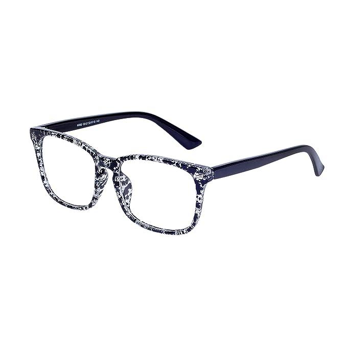 7dfd2ada19 JoXiGo Montura de Gafas Hombre Mujer Retro Vintage Grandes Square Marco  Lente Transparentes, con Caso: Amazon.es: Ropa y accesorios