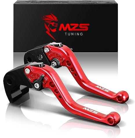 MZS Short Levers Brake Clutch CNC for Kawasaki KLX150S 09-13/ KLX125 10-16/ KLX250 08-16/ Ninja 250R 08-12/ Ninja 300R Z300 13-18/ Ninja 400 18-19/ ...