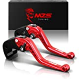 MZS Brake Clutch Short CNC Levers compatible Yamaha YZF R1 R1M R1S 2015-2018 Red