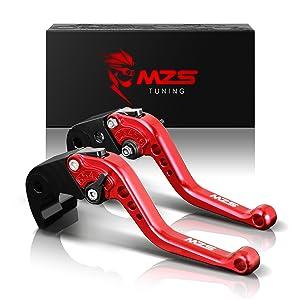 MZS NINJA 650R Levers Short Brake Clutch Adjustment CNC for Kawasaki NINJA650R ER-6f ER-6n 06-08/ VERSYS 650 06-08/ GPZ500S EX500R 90-09/ W800 W800SE 12-16/ Z750S 06-08/ ZX-6 90-99/ ZX9R 98-99 Red