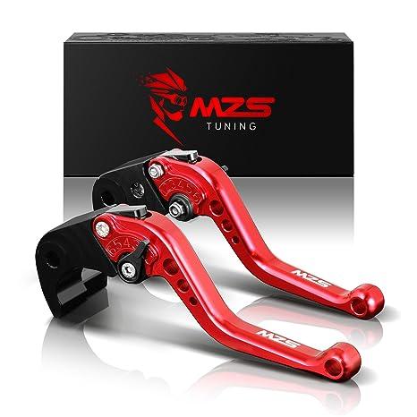 MZS Short Brake Clutch Levers for Ducati 821 MONSTER Dark Stripe 14-17/  HYPERMOTARD 821 13-15/ HYPERSTRADA 821 13-15/ HYPERMOTARD 939 Strada 16-17/