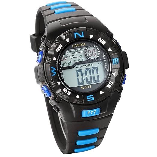 Jewelrywe Reloj multifunción, Reloj digital deportivo, Reloj Caballero para aire libre, Color azul para hombre/mujer: Amazon.es: Relojes