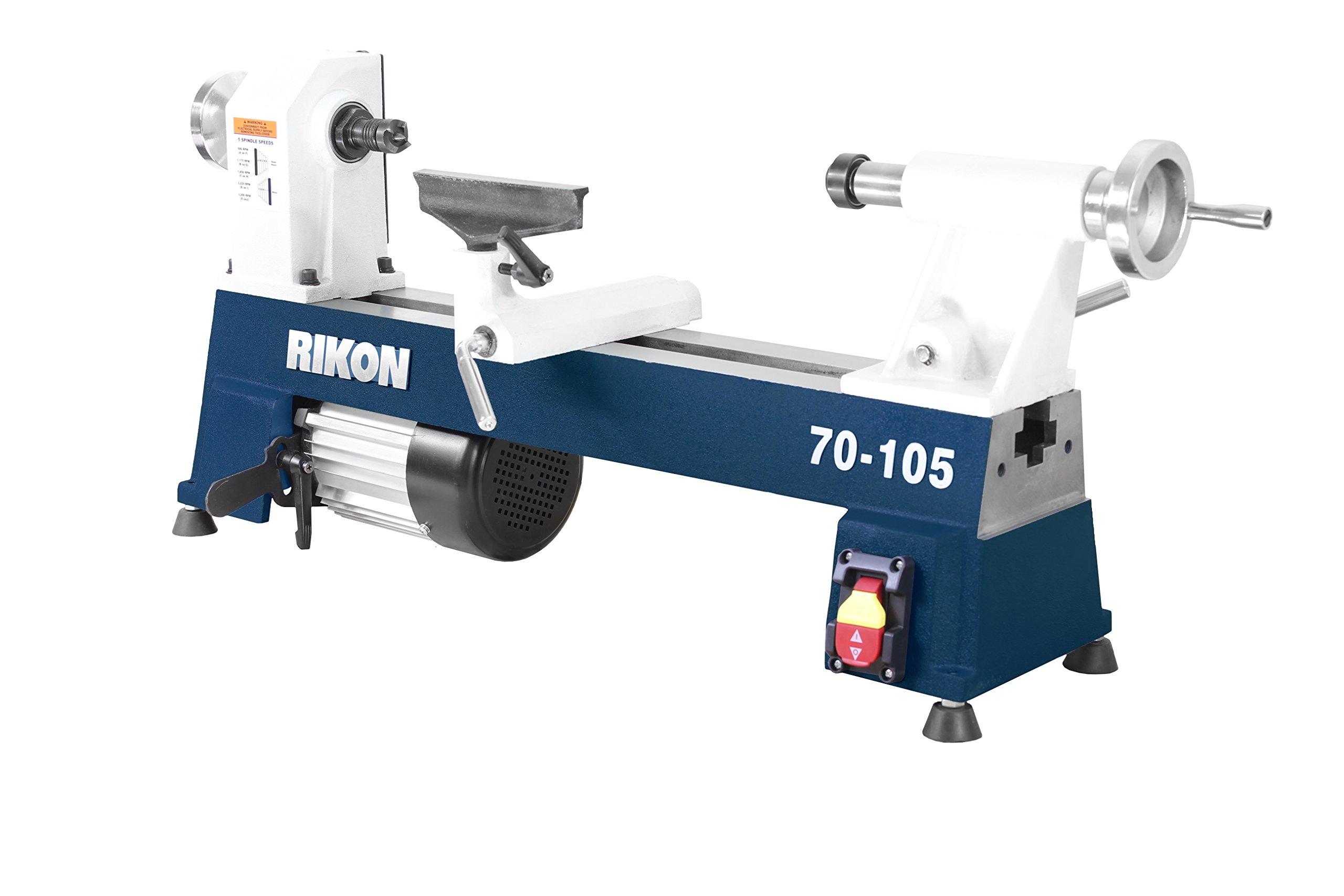 RIKON Power Tools 70-105 10'' x 18'' 1/2 hp Mini Lathe by RIKON Power Tools