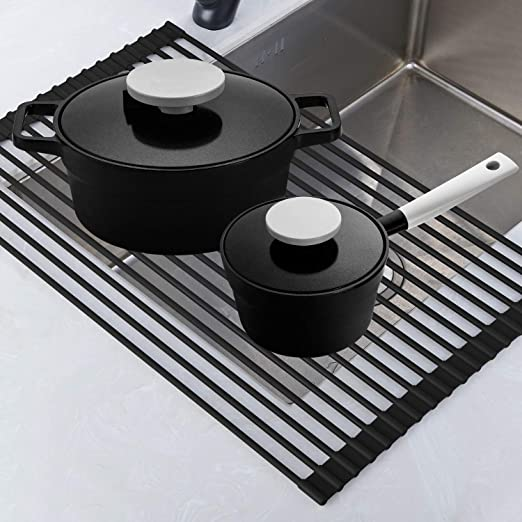 Amazon.com: Roll Up Rack, Collapsible Dish Drying Rack In The Sink