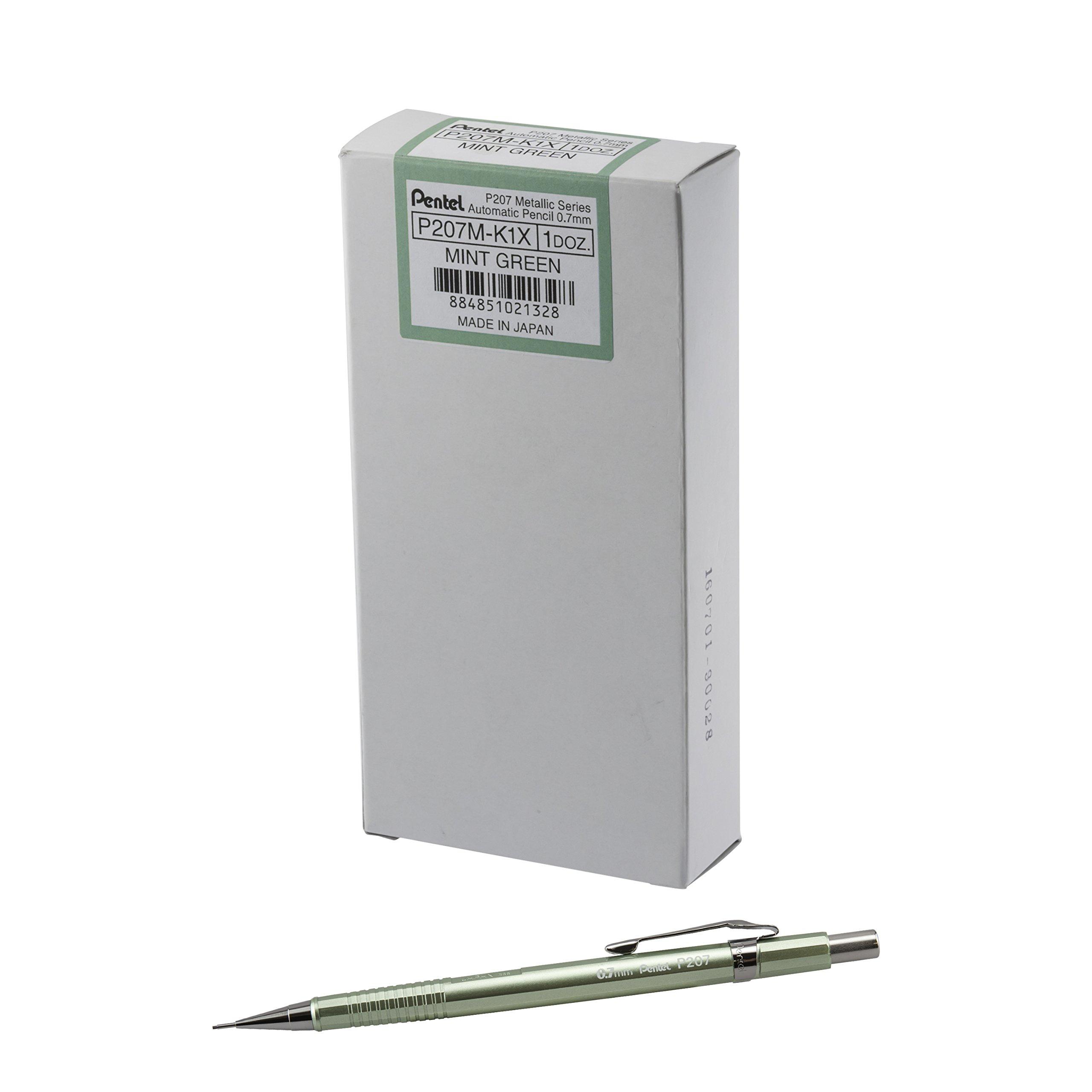 Portaminas 0.7mm Pentel.e-sharp Metallic Celadon x12