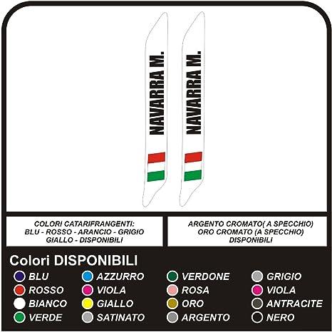 2x Personalizzata Adesivo in Vinile Decalcomania Auto Kart Casco Corse Custom