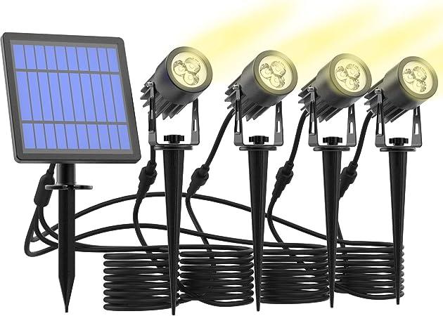 LED Landscape Solar Spot lights Waterproof Outdoor Solar Spotlight for Backyard