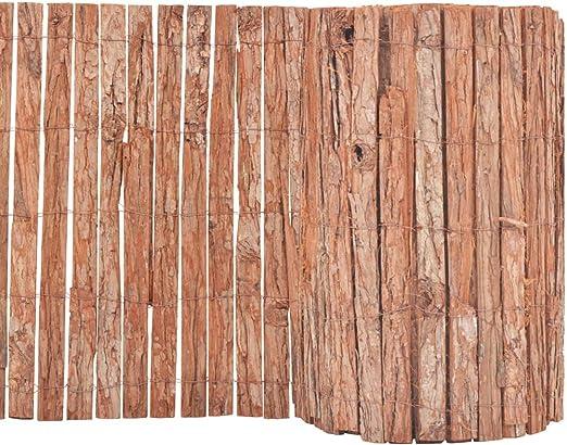 vidaXL Valla Jardín Corteza Madera Rollo 1000x50 cm Estera Pantalla Privacidad: Amazon.es: Jardín