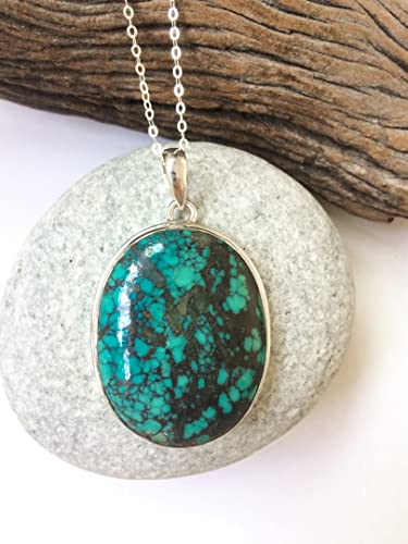 Handmade Sterling Silver Turquoise Pendant
