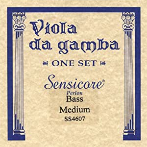 Super Sensitive Sensicore Bass Viola de Gamba Strings Set