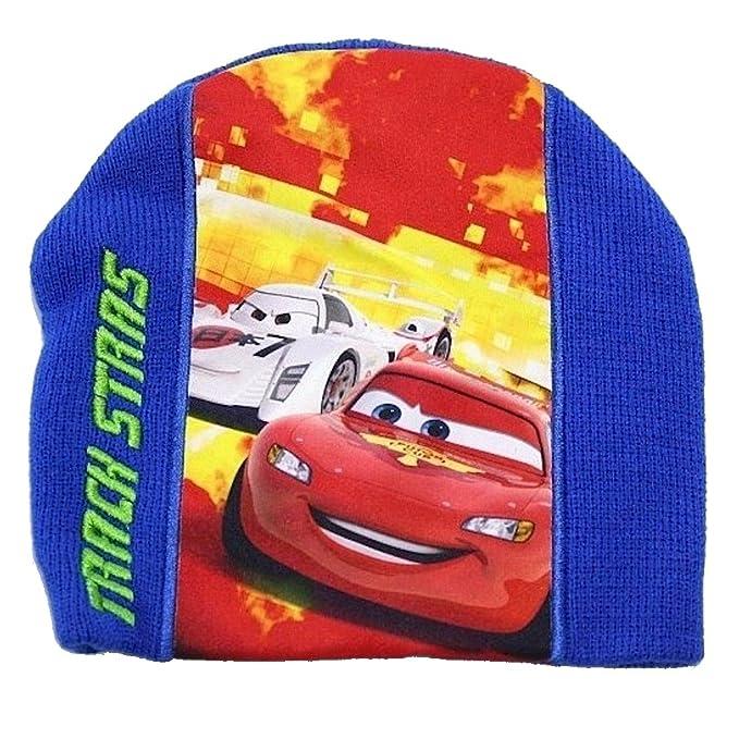 """ファッション & Stars"""" Disney Pixars Cars 2 Boys ディズニー Beanie Hat Gloves Set Sz. 4-7 Disney 小物 """"Track"""