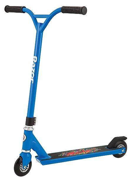 Amazon Com Razor Pro Beast Sport Scooter Blue Sports Outdoors