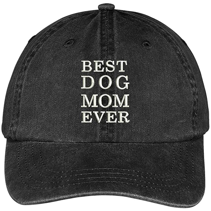 3d04bb75a3037 Trendy Apparel Shop Best Dog Mom Ever Embroidered Soft Fit Washed Cotton Baseball  Cap - Black