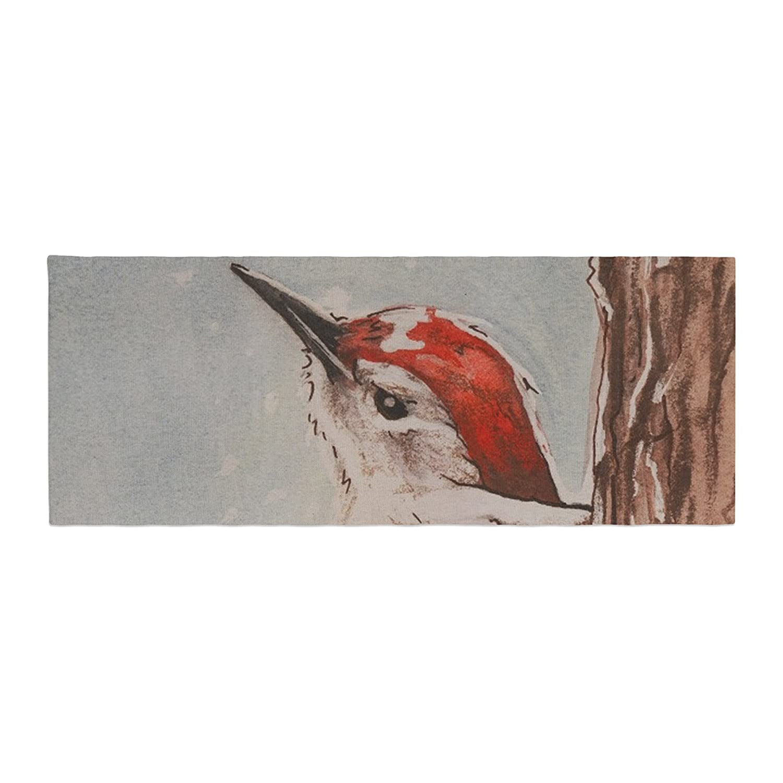 Kess InHouse Brittany Guarino Downy Woodpecker Bed Runner