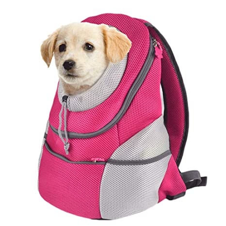 Paquete de Mochila para Perros Fuera del Gato Bolsa para Gatos portátil para Mascotas Peluche para
