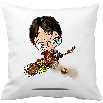 Cojín con relleno Chibi Kawaii Harry Potter Quidditch ...