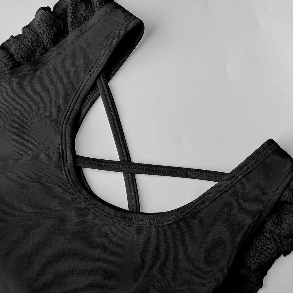Morado 4-13 A/ños Azul Negro Soudittur Maillot de Ballet Ni/ña Vestido de Danza Baile Tut/ú Leotardo Algod/ón Gimnasia Cl/ásico Sin Mangas con Faldas de Encaje en Rosa