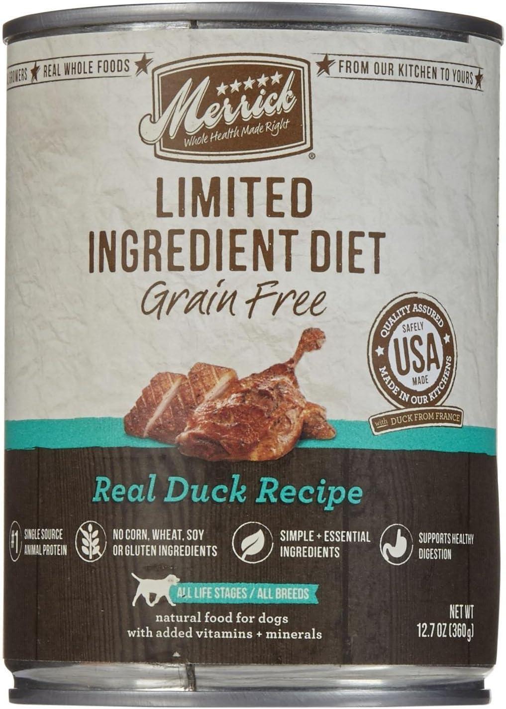 Merrick Limited Ingredient Diet - Real Duck Recipe - 12.7 Oz - 12 Ct
