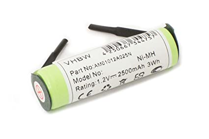 Batería Ni-MH 2500mAh 1,2 V para cepillos de dientes Braun por.