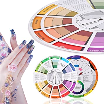 Amazon Com Professional Mix Guide Round Tattoo Nail Pigment Color