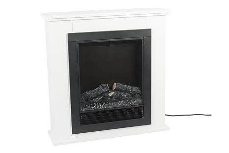 Classic Fire 00410 Lugano Calefacción Y Chimenea Eléctrica Con Efecto Llama Y Reprisa
