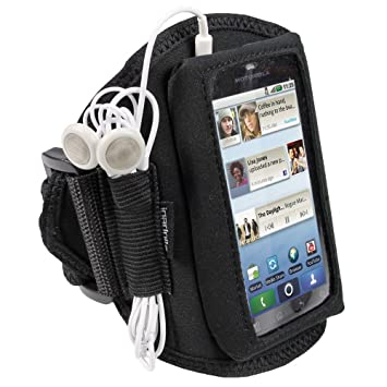 igadgitz Negro Brazalete Armband Sport Deporte Funda para Motorola Defy MB525 & Defy+ (Plus) Android Smartphone: Amazon.es: Electrónica