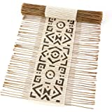 White Mud Cloth African Twig & Cloth Table Runner