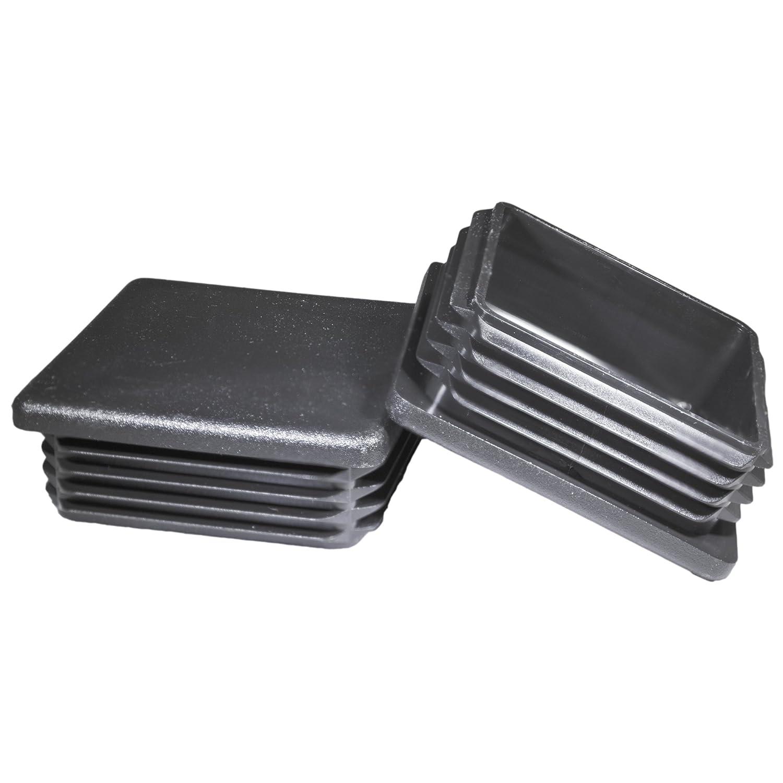Prescott Plastics 3インチ角プラスチックプラグ 高耐久チューブポストエンドキャップ (B) Pack of 4 Plugs ブラック (B) Pack of 4 Plugs  B07MJLV4KL