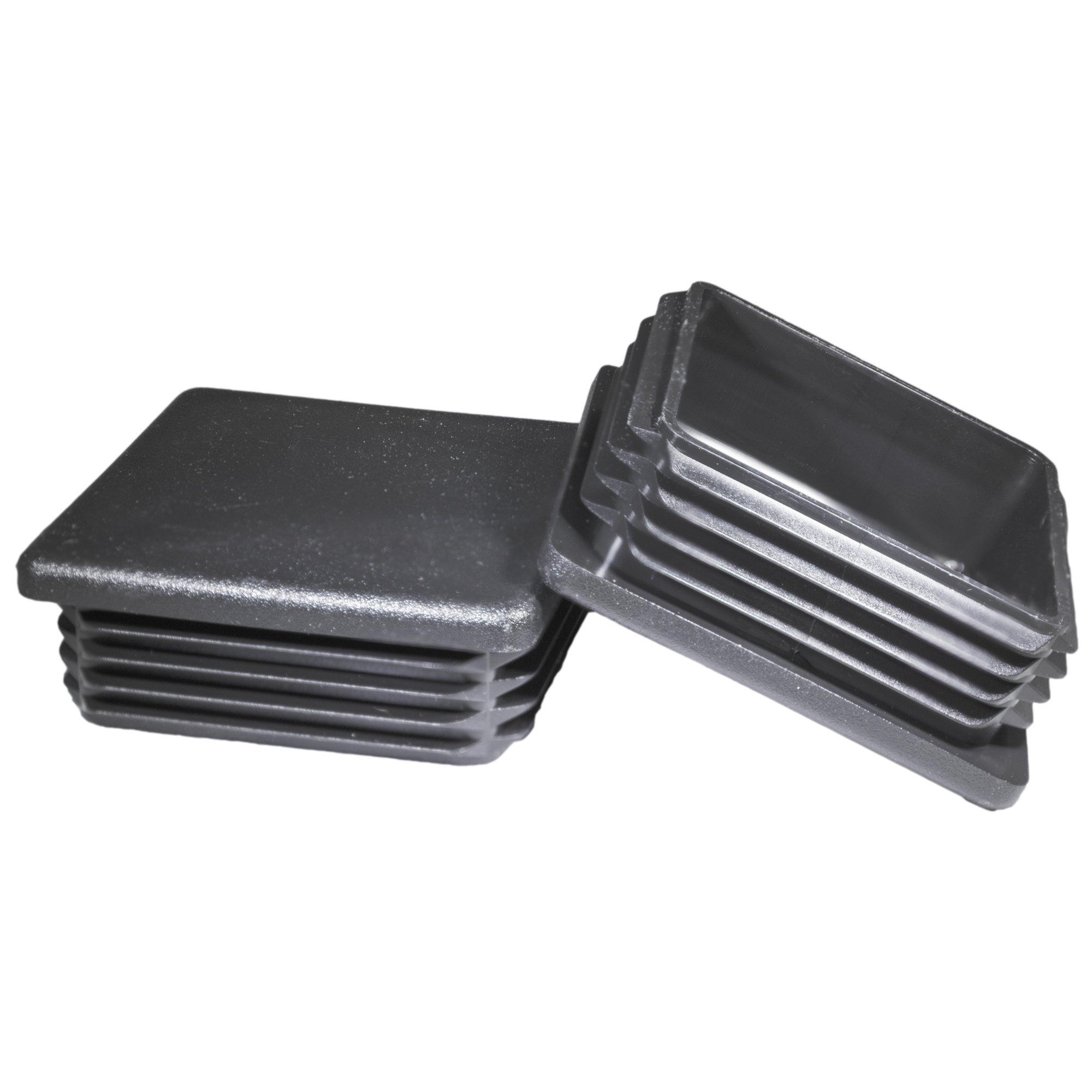 2 Pack: 3 Inch Square Plastic Plug, Heavy Duty Tubing Post End Cap